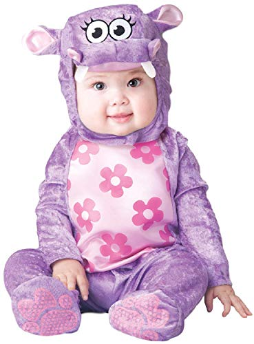 Baby Boys Girls Purple Hippo Animal Jungle Cute Halloween Carnival Fancy Dress Costume Outfit 6-24 mths (18-24 months)]()