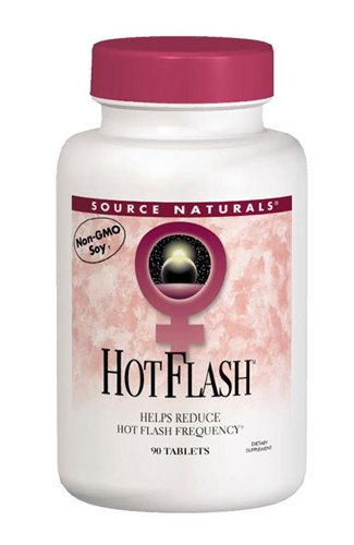 Bone Response 90 Tablets - Source Naturals Eternal Woman Hot Flash - Reduce Frequency, Night Sweats & Mood Swings Associated With Menopause - Hormone Balance Support With Black Cohosh, Soy, All Natural, Non-GMO - 90 Tablets