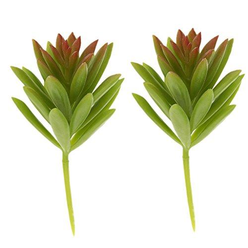 2pcs Perce-neige Plante Artificielle Succulente Plastique Décoration Maison - Vert