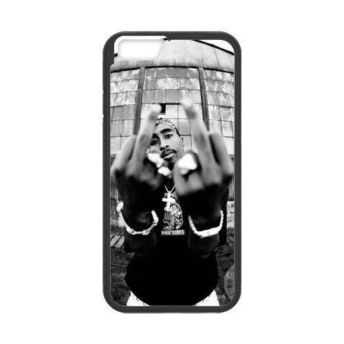 Onshop Custom Black and White 2PAC TUPAC SHAKUR Phone Case Laser Technology for iPhone 6 4.7 Inch