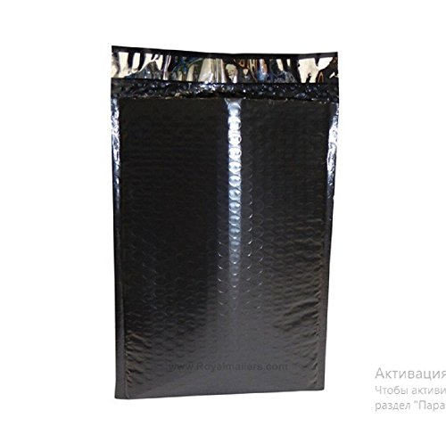 Black Poly Bubble Mailers 7.25 x 11 Padded Envelopes 7 1/4 x 11 by Amiff. Pack of 20 Poly Cushion Envelopes. Exterior Size 8x12 (8 x 12). Peel and Seal. Mailing, Shipping, Packing, Packaging. by Amiff