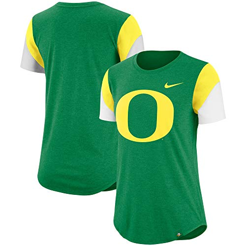 Nike Oregon Ducks Tri-Blend Fan Women's Logo Shirt (Medium)