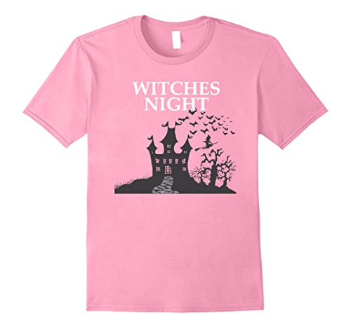 Mens New 2017 Halloween Witches Night T-Shirt 2XL Pink (Halloween Horror Nights 2017 Theme)