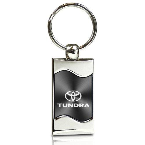 Toyota Tundra Gray Spun Brushed Metal Key Chain TOY-KC3075-TUN-BLK