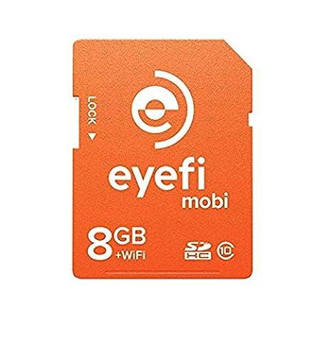 Eyefi Mobi 8GB Class 10 Wi-Fi SDHC Card with 90-day Eyefi Cloud Service (Mobi-8) (Eye Fi 8gb Mobi)