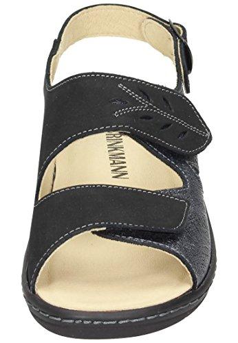 Schwarz Schwarz Schwarz Damen Brinkmann Sandalette Damen Sandalette Dr w7OY0qx