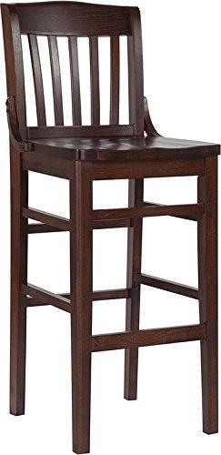 Cheap Flash Furniture HERCULES Series School House Back Walnut Wood Restaurant Barstool
