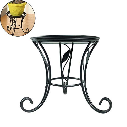 Stand Wrought Iron (Kathson Mini countertop Plant Stand Metal Potted ,Decorative Flower Pot Rack Indoor Outdoor Holders Garden for Window Tabletop Pillar Candle holder Short Tabletop (5