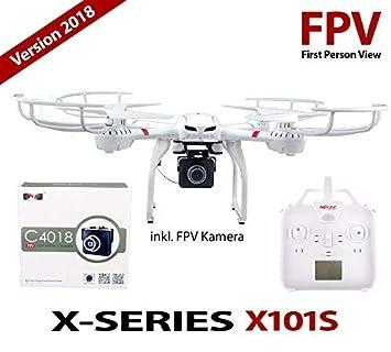 efaso X101 - MJX X101 con 720 p FPV HD cámara WiFi C4018: Amazon ...