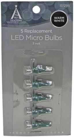 Cool White Celebrations REPL LED MICR Bulb WW5PK MfrPartNo 11211-71