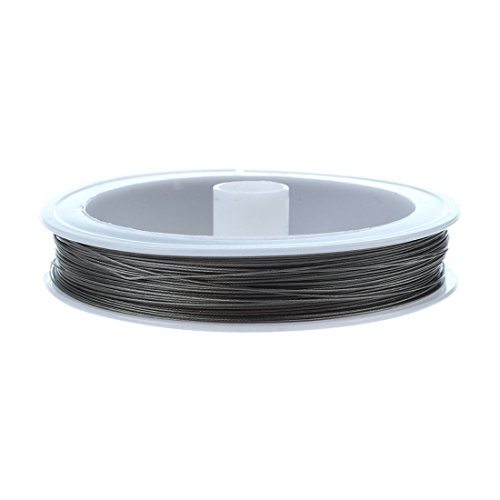 10 Rolls LightGrey Tiger Tail Wire Spool Stainless Wire 0.45mm about 50m//roll