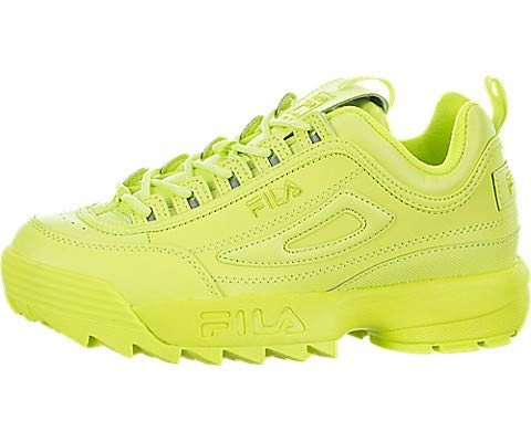 reputable site new products for whole family Fila Women's Disruptor II Premium Sneakers, Sharp Green/Sharp Green, 6 M US