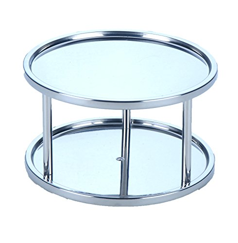Dial Industries Lazy Susan Stainless Steel Turntable Organizer, Double (Dial Double Dial)