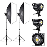 Photo Master Professional 5600K 60W LED Light Studio Video Continuous Lighting Softbox Lighting Kit for Portrait Photography,Studio and Video Shoots (2-Pack)