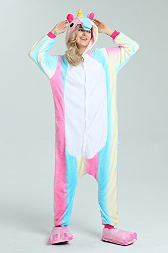 Taiyi Homewear Childrens Unicorn Plush One Piece Onesie Cosplay Animal Costume (12Yrs(height 59''-63''/150cm-160cm), Rainbow Flying Horse) by Taiyi (Image #5)