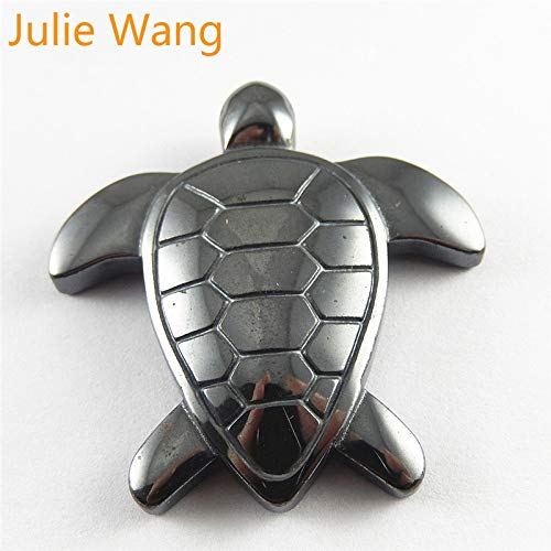 Julie Sea Necklace Turtle 1PCS Black Gallstone Charms for Jewelry Making Sea Turtles Shape Pendants Jewelry Findings Necklace Accessories
