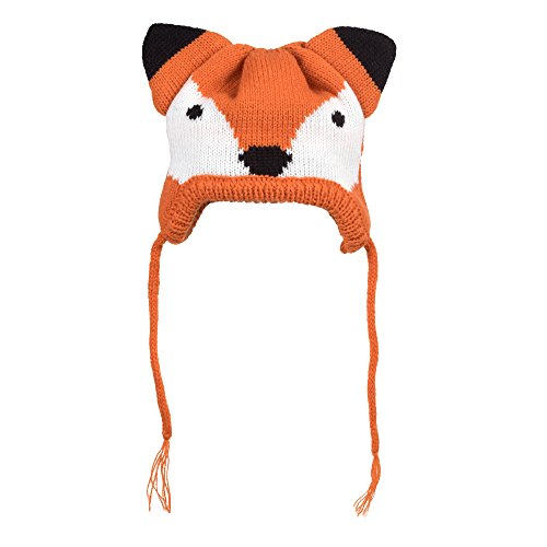 The Worthy Dog Fox Hat Comfortable, Warm, Acrylic Hat Cute Accessories for Pet Cat and Dog Fits Small, Medium and Large Dogs – Orange