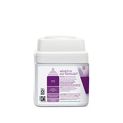 Plum Organics Grow Well Organic Infant Formula, 21 ounce (Pack of 4) Packaging May Vary