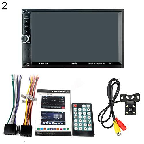 (yunbox299 HEVXM 7901 2 Din Car Radio 7 Inch Touch Screen Digital Bluetooth HD MP5 Player - 2#)