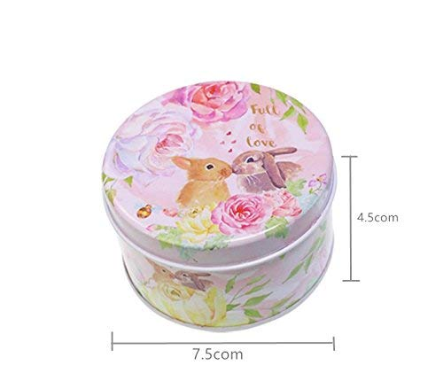 Yunyou Crafts 50pcs Exquisite Rabbit Pattern Tinplate Candy Box Birthday Storage Box Wedding Candy Box Party Gift