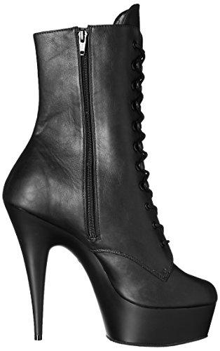 Delight Leather 1020 Matte Faux Negro Schwarz Botas Blk Pleaser Blk Mujer qfOnAfwB