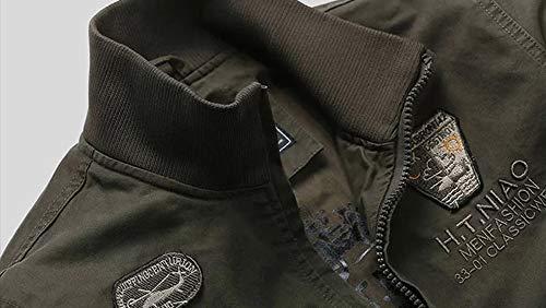 Combattimento Tattico Cargo Cappotto Green Stand Mens Collare Da Giacca Uomo Esercito Militare Outdoor Bosozoku Casual Army 7wBtTqIOq