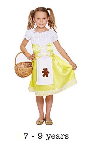 Henbrandt Porridge Girl / Goldilocks Costume Age 7-9 Years - Child Goldilocks Costumes