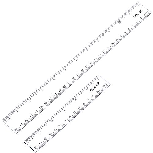 eBoot Plastic Straight Measuring Inches