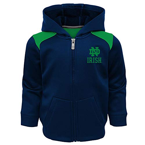 Fleece Notre Dame Irish Jacket - Outerstuff Youth Boys Notre Dame Fighting Irish Fleece Set Hoodie/Pant Suit (2T)