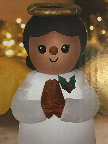 Black Inflatable African American Angel 3.5' Tall Indoor/Outdoor Christmas Decoration