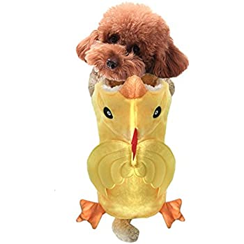 NACOCO Dog Costume Chicken Hoodies Pet Clothes Halloween Party for Cat and Puppy (XL)