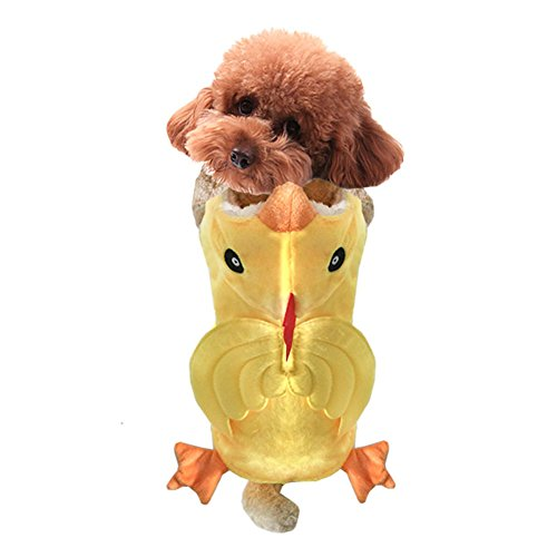 NACOCO Dog Costume Chicken Hoodies Pet Clothes Halloween Party for Cat and Puppy (M)