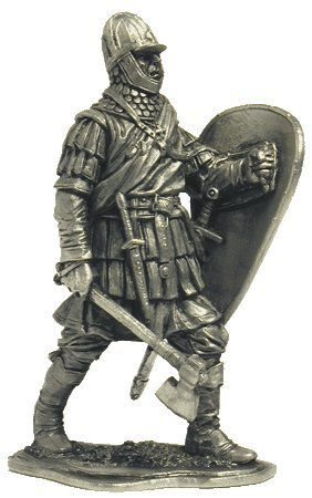 Tin Toy Soldiers Metal Sculpture Miniature Figure Collection 54mm M104 The warrior of the Novgorod militia 14th century scale 1//32