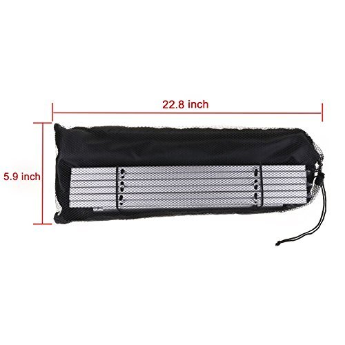 Portable Camping Table Aluminum Folding Table with Carrying Bag Roll up Table for Picnic, Camping, BBQ, Fishing, Beach, Travel – Silver
