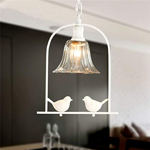 FidgetGear Modern Resin Bird Chandelier Fixture Bar Cafe Pendant Light Ceiling Lamp PL602 White by FidgetGear (Image #1)
