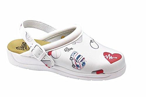 Dian Pisa estampado - zapatos hospitalarios