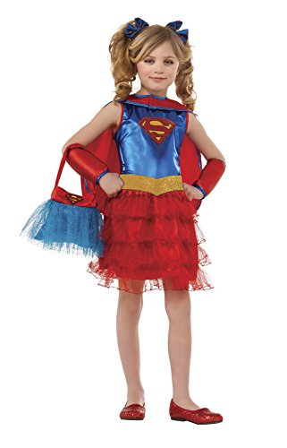 Supergirl Tutu Dress Costume with Purse (Medium) (Supergirl Halloween)