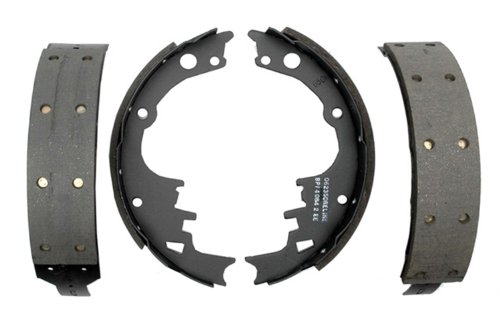 (ACDelco 17242R Professional Riveted Front Drum Brake Shoe Set)