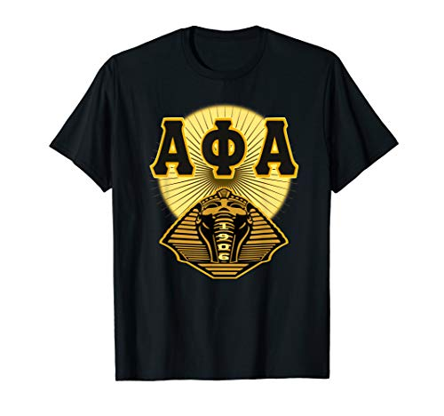 Alpha Phi Gold Alpha 1906 Fraternity T-shirt Mens