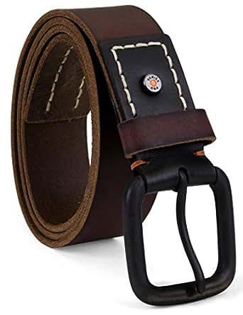 Timberland PRO mens 40mm Workwear Leather Belt Belt - brown - 32