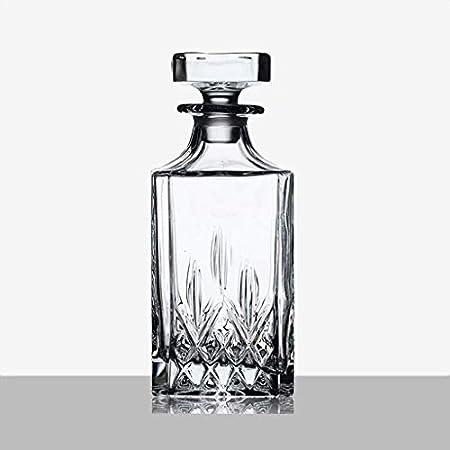 TQJ Botella de Whisky con Vaso Decantador de Vino Crystal Glass Whiskey Bottle Decanter 800ml Botella de Whisky Regalo (Color : #1)