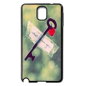 Vety Heart Key Samsung Galaxy Note 3 Cases, {Black}