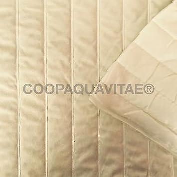 Tela acolchada ante algodón tela relleno sintética Lale Crema: Amazon.es: Hogar