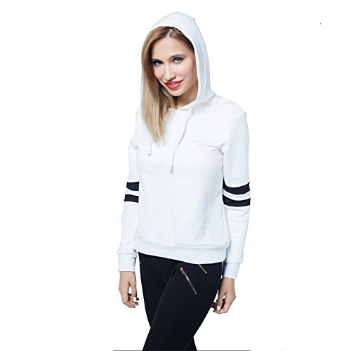 Abaobao Long Sleeve Hoodies For Women And Girls, Womens Cotton Pullover Fashion Tops Clothing Supreme Quality White