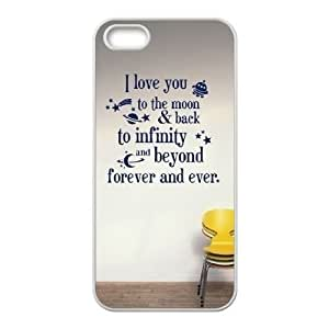 Personalized Durable Case Cover for iPhone 5,5S with Brand New Design I love you to the moon and back BY RANDLE FRICK by heywan