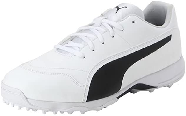 PUMA Cricket Shoes (10) White: Amazon