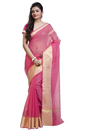 Rajnandini Women's Cotton Saree( JOPLSRS1022B_Pink_Free Size)