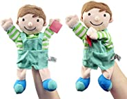 TOYANDONA Plush Hand Puppets Family Members Softs Finger Puppets Toys Birthday Gifts for Kids Party Favor Todd