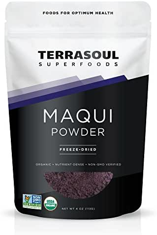 Terrasoul Superfoods Maqui Berry Powder (Organic), 4 Ounce