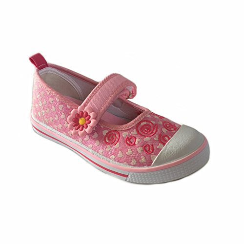 Slobby- Kinder Leinen - Schuhe Ballerina Freizeit - Schuhe - Größe 25-30 Neu Rosa